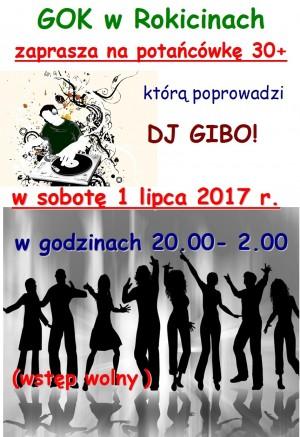 GOK w Rokicinach zaprasza na potańcówkę 30+ 1 lipca 2017 r.