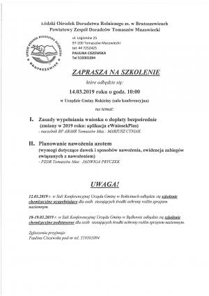 Szkolenie - Zasady wypełniania wniosku o dopłaty bezpośrednie