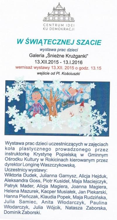 Wystawa prac dzieci z Gminy Rokiciny w Piotrkowie Trybunalskim