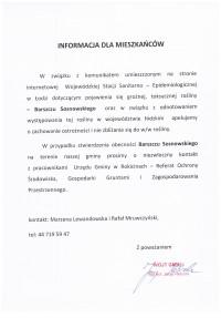Informacja w sprawie Barszczu Sosnowskiego
