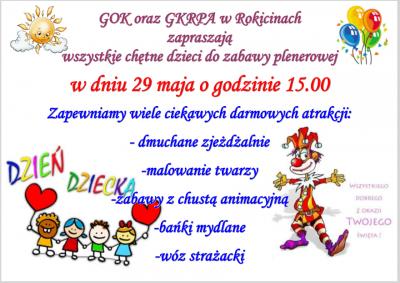 Zaproszenie na zabawę plenerową w dniu 29 maja 2016 r.