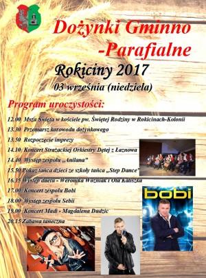 Dożynki Gminno-Parafialne Rokiciny 2017