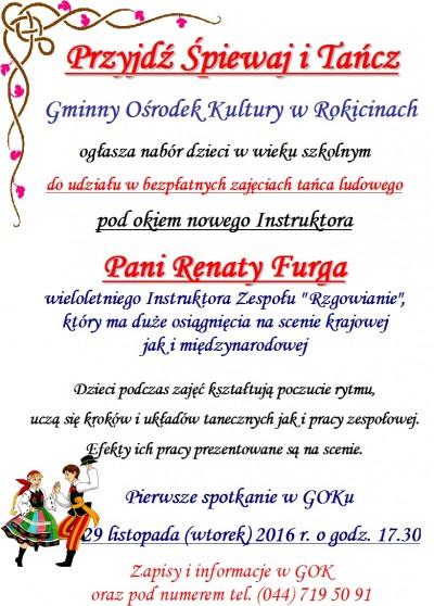 Zajęcia z tańca ludowego w GOK