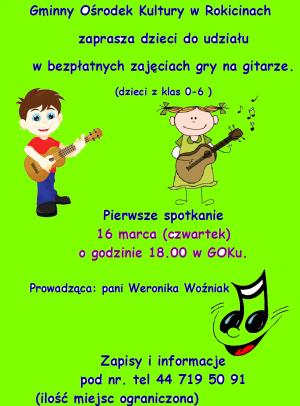 Bezpłatne zajęcia gry na gitarze w GOK