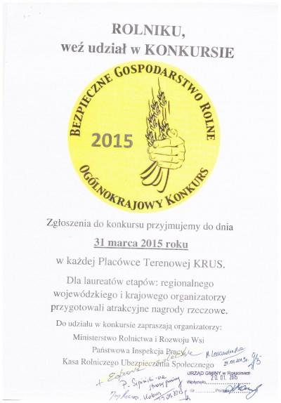 Konkurs KRUS