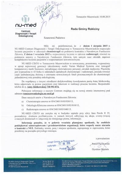 Kontrakty NFZ dla NU-MEDu