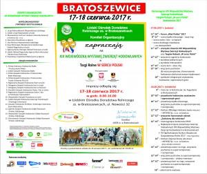 Zaproszenie na XIX Wojewódzką Wystawę Zwierząt Hodowlanych w Bratoszewicach w dniach 17-18 czerwca 2017 r.