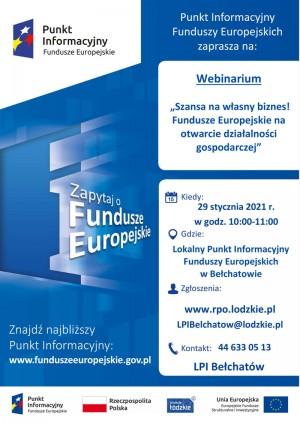 Szansa na własny biznes! – Fundusze Europejskie na otwarcie działalności gospodarczej