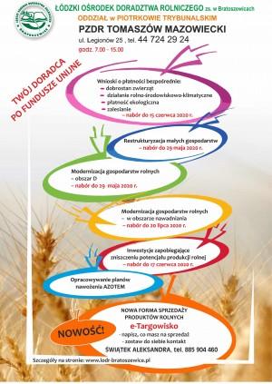 Ogłoszenie Łódzkiego Doradztwa Rolniczego z siedzibą w Bratoszewicach
