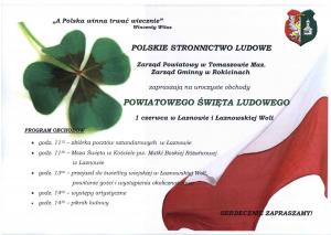 Powiatowe Święto Ludowe w Łaznowie i Łaznowskiej Woli