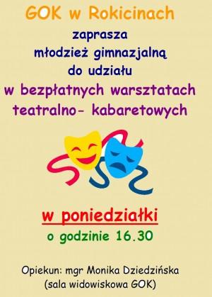Bezpłatne warsztaty teatralno-kabaretowe w GOK