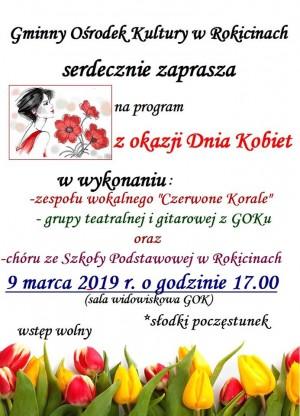 Gminny Ośrodek Kultury w Rokicinach zaprasza na Dzień Kobiet