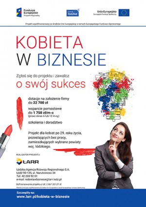Kobieta w biznesie - dotacje na założenie firmy