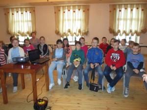 Bezpieczeństwo dzieci -  prelekcja przeprowadzona przez KRUS dla dzieci w czasie ferii