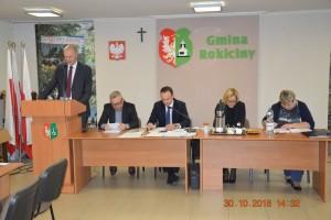 Sesja Rady Gminy Rokiciny w dniu 30.10.2018 r.