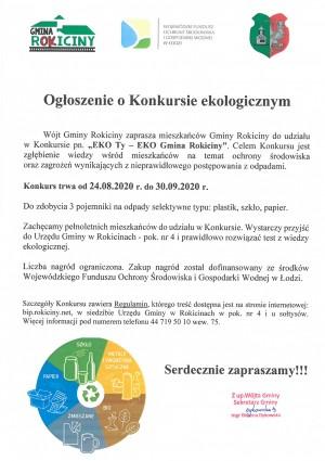 Ogłoszenie o Konkursie ekologicznym