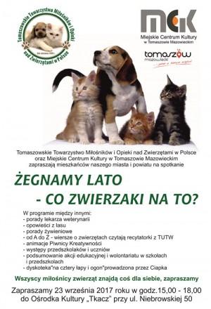 SPOTKANIE MIŁOŚNIKÓW ZWIERZĄT  Tomaszowa Maz.