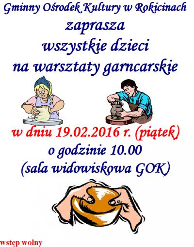 Warsztaty garncarskie w GOK