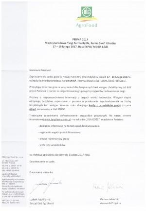 Międzynarodowe Targi Ferma Bydła, Ferma Świń i Drobiu w dniu 17-19 luty 2017 w Łodzi