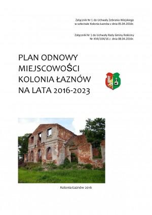 Plan Odnowy Miejscowości Kolonia Łaznów