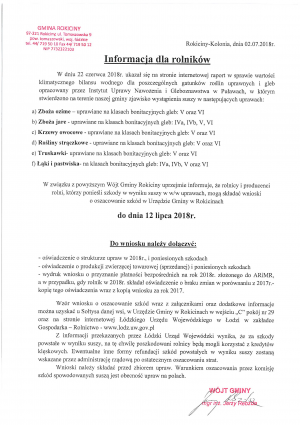 Informacja dla rolników - SUSZA