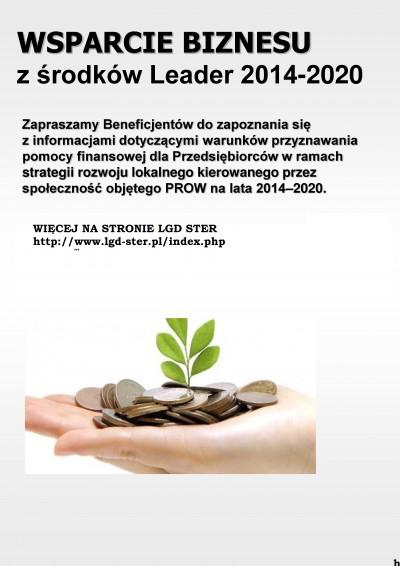 Wsparcie dla biznesu ze środków Leader 2014-2020