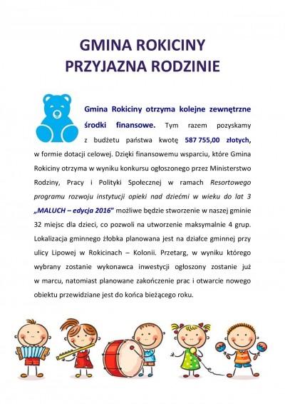 Gmina Rokiciny przyjazna rodzinie