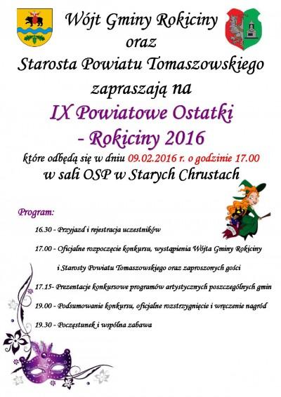 IX Powiatowe Ostatki Rokiciny 2016