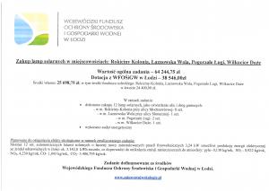 Zakup lamp solarnych w miejscowościach: Rokiciny-Kolonia, Łaznowska Wola, Pogorzałe Ługi, Wilkucice Duże