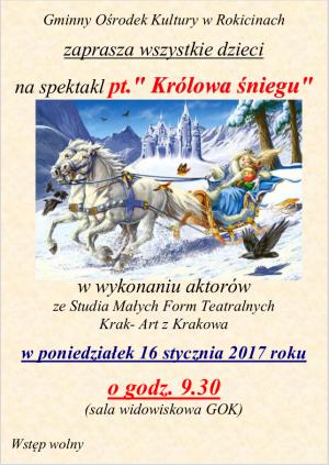 Spektakl Królowa Śniegu